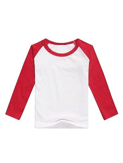 b8b486039cd Amazon.com  JOYCHEER Boys  Baseball Jersey Tee Girls  Raglan T Shirts  Unisex Baby Long Sleeve Tops  Clothing