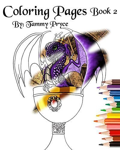 - Amazon.com: Fantasy Art Coloring Pages Book 2 With Dragons, Mermaids &  Fairies Adult Coloring Pages: Handmade