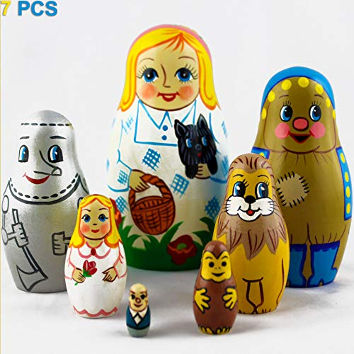 MATRYOSHKA&HANDICRAFT Nesting Dolls Fairy Tale The Wonderful Wizard of Oz Set 7 pcs