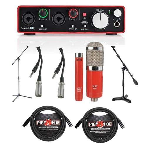 Focusrite Scarlett 2i2 2nd Gen 2 USB 2 0 Audio Interface - Bundle