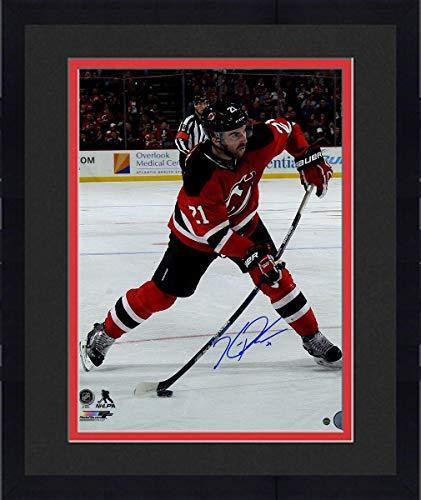 Framed Kyle Palmieri Signed New Jersey Devils Slap Shot 16x20 Photo - Steiner Sports Certified - Autographed NHL Photos