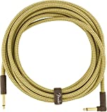 Fender Deluxe 18.6' Angled Instrument Cable - Tweed