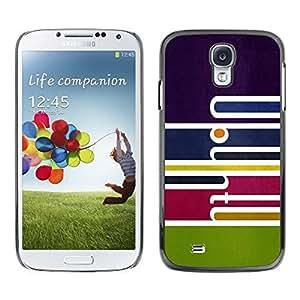 Be Good Phone Accessory // Dura Cáscara cubierta Protectora Caso Carcasa Funda de Protección para Samsung Galaxy S4 I9500 // Abstract Art