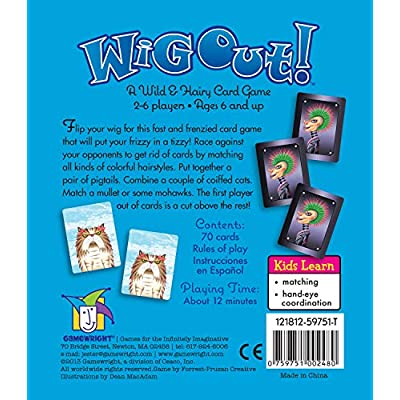 Wig Out! A Wild and Hairy Card Game: Toys & Games