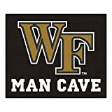 NCAA Wake Forest University Man Cave Tailgater Rug, 60'' x 72''/Small, Black