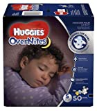Huggies Size 5 OverNites Disney Mickey Mouse designs Diapers, 50 ea -Pack of 2