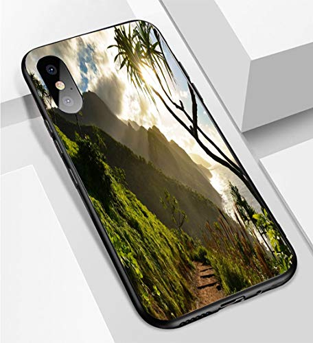 iPhone X/XS Ultra-Thin Phone case Beautiful Na Pali Coast Sunset from The Kalalau Trail on Kauais North Shore Anti-Drop Anti-Slip Soft Convenient Protective Shell