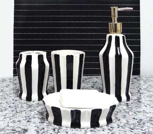 Amazon Com Tuscany Embossed Hand Painted Ceramic 4 Piece Bathroom Accessories Soap Dispenser Toothbrush Holder Toothbrush Cup Soap Dish By Ack All
