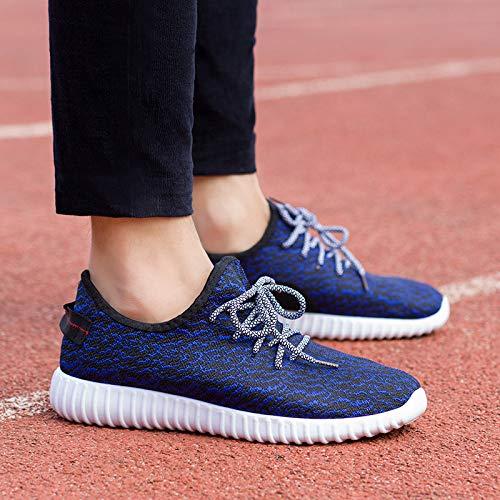 Hasag Calzado Deportivo Nuevo Calzado Deportivo para Mujer Zapatos voladores Tejido blue
