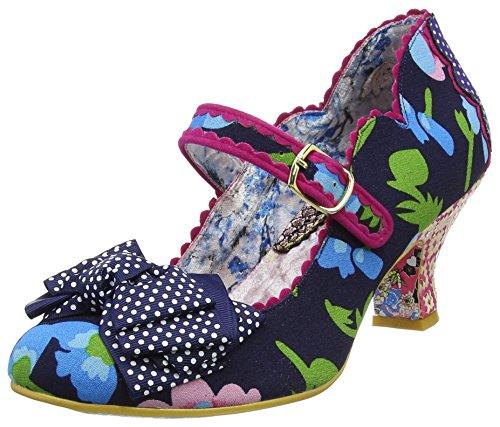 Irregular Choice Women's Balmy Nights Navy Low Heel Court Shoe Navy UK 5 - EU 38 - US (Irregular Choice Women Footwear)
