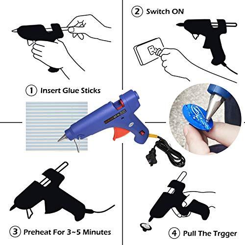 Bonbo 100pcs Car Body Paintless Dent Repair Removal Tools, Auto Dent Puller Kit Automotive Door Ding Dent Silde Hammer Glue Puller Repair Starter Set Kits for Car Hail Damage and Door Dings Repair by Bonbo (Image #2)