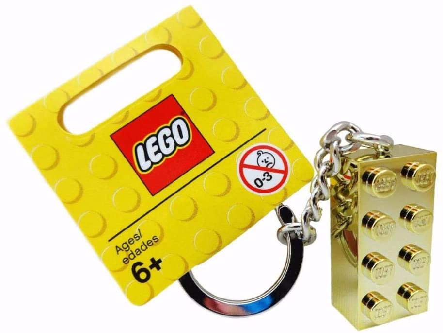 850808 Lego Gold brick keyring size 2x4