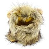 SMALLLEE_LUCKY_STORE Pet Clothes for Small Dog Cat Lion Mane Costume Wig Hat Festival Party Fancy Dress