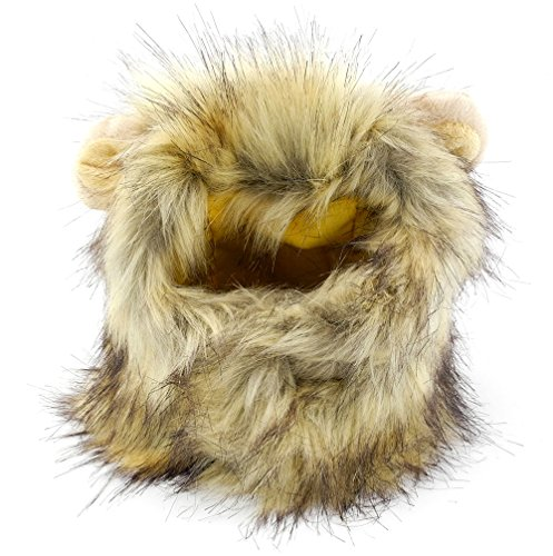 SMALLLEE_LUCKY_STORE Pet Clothes for Small Dog Cat Lion Mane Costume Wig Hat Festival Party Fancy (Cat Mane Costume Amazon)