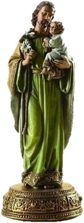 "10.25"" St. Joseph Figurine With Base Joseph Studio Heavenly Protect by Roman"