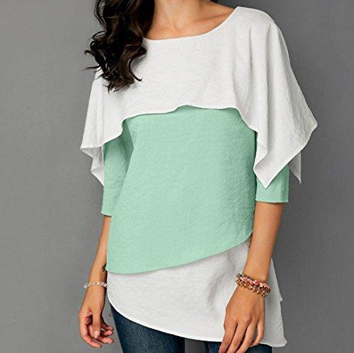 Ladies T Camicia Donna Shirt Tops Casuale Top Camicetta YUMM Verde Impreziosito zFRExg
