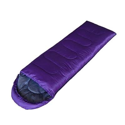 Enveloppe À Capuchon Sac De Couchage Printemps Eté Automne Sac De Couchage Camping En Plein Air Adulte,Purple,950G