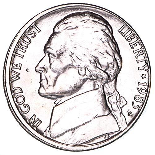 1983 P Jefferson Nickel Brilliant Uncirculated