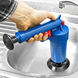 Bathroom Sewer Dredge Toilets High Pressure Air Drain Blaster Cleaner ABS Plastic Drain Cleaner Clogged Pipes(4 Differents Size Adaptor
