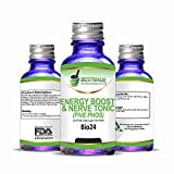 Energy Boost and Nerve Tonic Natural Remedy (Bio24) Lactose Free - Sugar Base