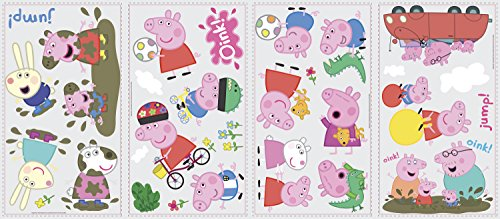 RoomMates RMK3183SCS Peppa the Pig Peel and Stick Wall -