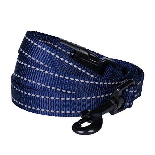 "Blueberry Pet Leashes for Dog 1"" by 4-Feet Long Durable Dog Leash in Midnight Navy, Large"