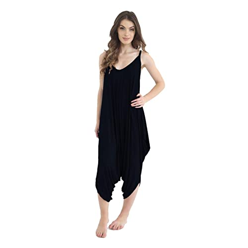 ZEE FASHION Ladies Womens Plain Ali Baba Harem Suit Cami Strappy Lagenlook Dress Oversized All in