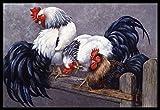 Caroline's Treasures BDBA0208JMAT Roosters Roosting Indoor or Outdoor Mat, 24
