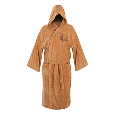 Image Unavailable. Image not available for. Color  Jedi Fleece Bathrobe ... 72b9cf496