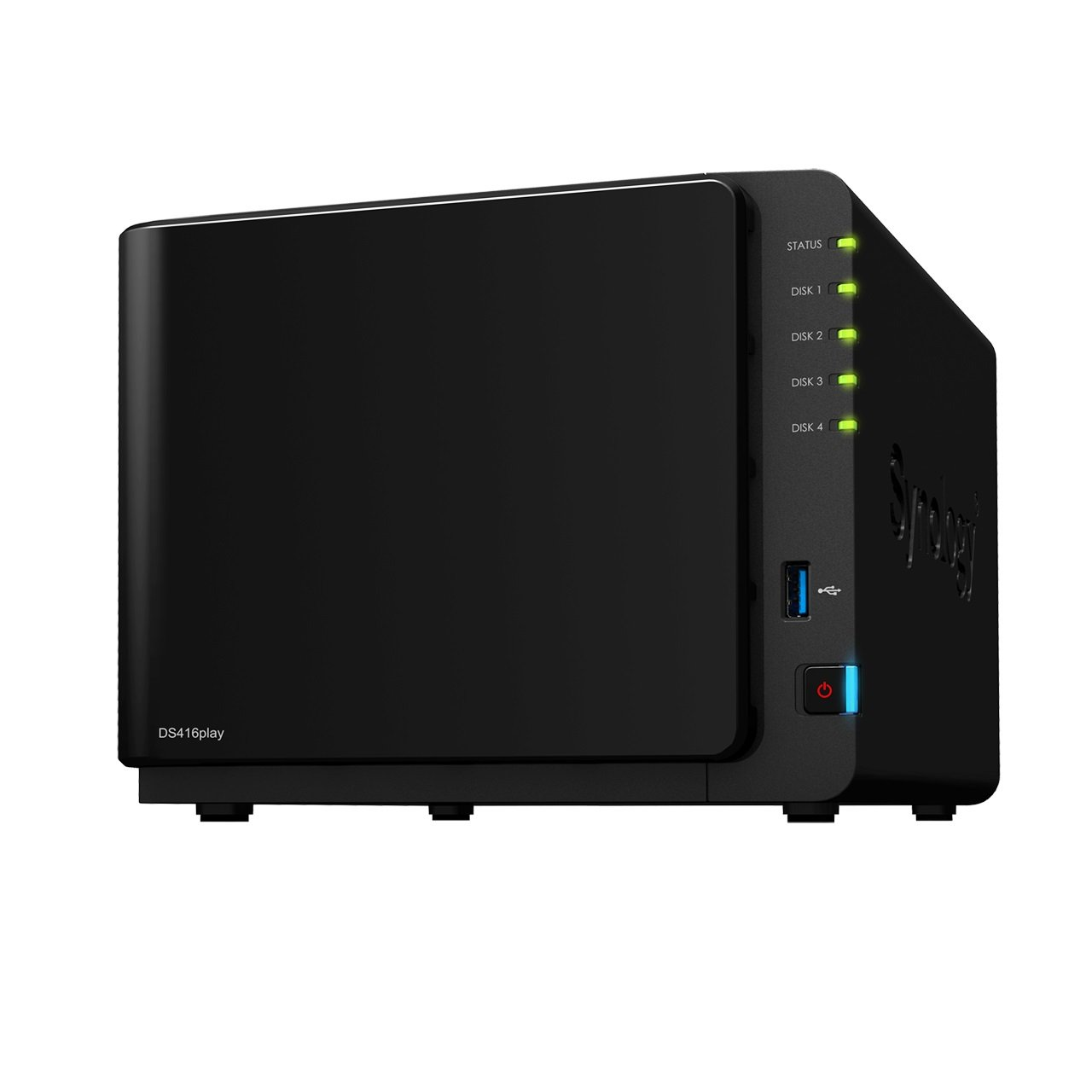 Synology Serie Value DS416 - Dispositivo de almacenamiento en red (1 GB, 3 puertos USB 3.0, 2 puertos LAN Gigabit),...