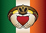 Cheap Citizen Pride Irish Claddagh Large House Flag by Joe Barsin, 40×28