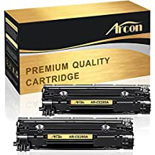 Arcon 2 Pack Compatible for Canon 125 HP 85A Toner Cartridge for HP LaserJet Pro P1100 P1102 P1102W P1102WHP Pro M1132 M1210 M1130 M1212NF M1217NFW for Canon LBP6000 MF3010 Printer Toner Cartridge