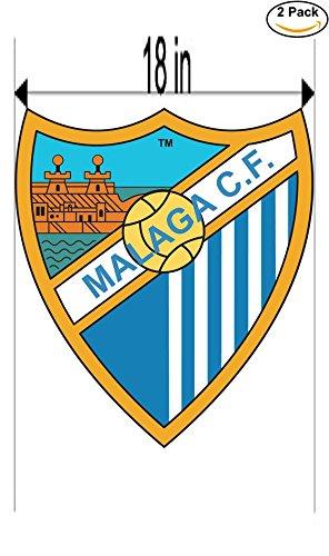 fan products of Malaga CF Spain Soccer Football Club FC 2 Stickers Car Bumper Window Sticker Decal Huge 18 inches