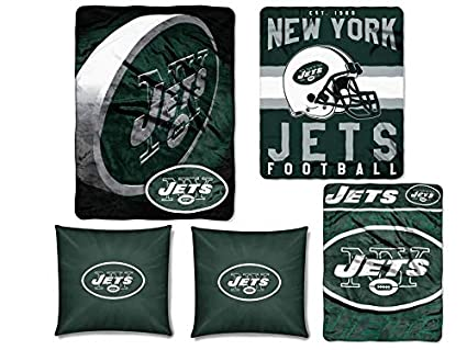 Amazon The Northwest Company NFL New York Jets 40pc Ensemble Extraordinary Nfl Blankets And Throws