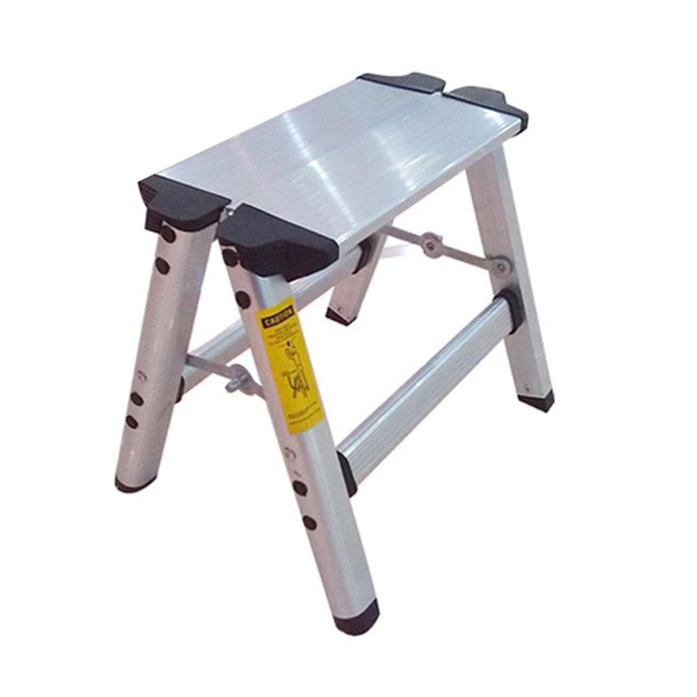 LXLA- Household Folding 2 Step Stool Aluminum Alloy Footstool Portable Change Shoe Bench For Kitchen, Bathroom, Toilet, Caravan