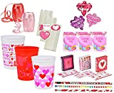 Valentine's Day Pre-Filled Favor Cups! Perfect For Classroom Gift Exchange, Valentines Day Party Favors & Valentines Day Gifts!