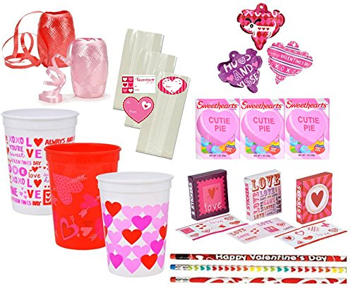 Valentine's Day Pre-Filled Favor Cups! Perfect For Classroom