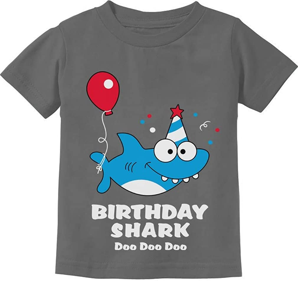 Tstars - Birthday Shark Doo doo Song Funny Gift Toddler Kids T-Shirt