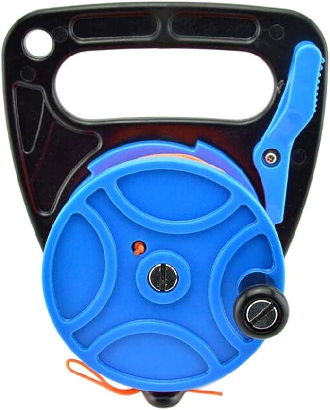 Leezo Carrete de Buceo 150/272FT Carrete retráctil de línea de Dedo con Tope de Mango para Snorkel subacuático Equipo de Deportes acuáticos, Rueda de tracción de Buceo, Azul Oscuro, 83m: Amazon.es: Deportes