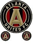 #7: Atlanta United Football Club Logo Sticker. 3 decals in 1. Official Major League Soccer sanctioned team logos.