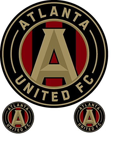 Atlanta United Football Club Logo Sticker. 3 decals in 1. Official Major League Soccer sanctioned team (Official Team Logo Keychain)