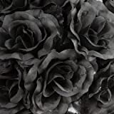 Amazon black artificial flowers artificial plants flowers ifavor123 bulk 96pcs pack of artificial flowers roses for diy wedding quinceaera formal event bouquets centerpieces mightylinksfo