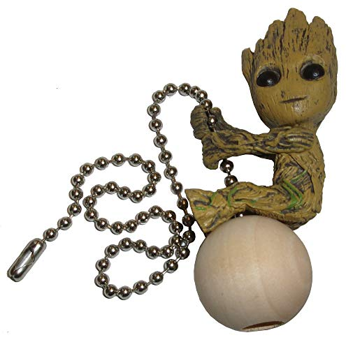 Baby Groot Ceiling Fan Pull by Wooden Androyd Studio (Toddler Groot)