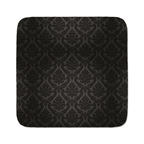 Cozy Seat Protector Pads Cushion Area Rug,Dark Grey,Ancient Damask Motifs Victorian Vintage Revival Design Elements Medieval Baroque Decorative,Black Grey,Easy to Use on Any (Grey Revival Toilet Seat)