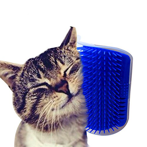 DX Store Pet cat Self Groomer Grooming Tool Hair Removal Brush Comb for Dogs Cats Hair Shedding Trimming Cat Massage Device with catnip