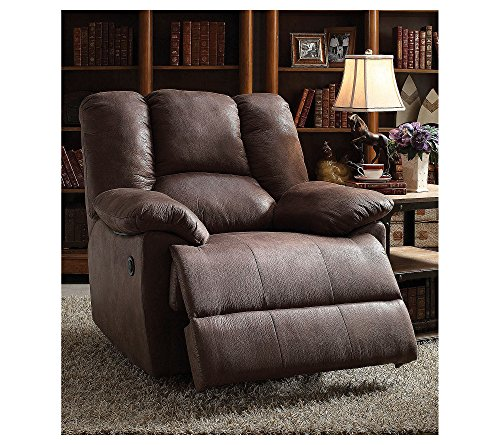Acme Furniture 59422 Oliver Recliner Power Motion , Brown Polished
