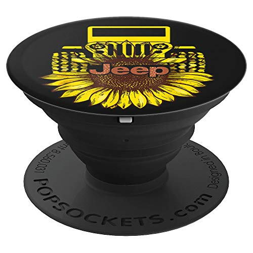 - Jeep Sunflower Funny Drive style Gift Jeep Lover Gifts - PopSockets Grip and Stand for Phones and Tablets
