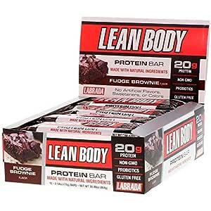 Labrada Nutrition, Lean Body Protein Bar, Fudge Brownie, 12 Bars, 2.54 oz (72 g) Each
