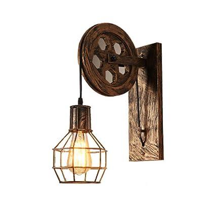 Amazon.com: Lámpara de pared industrial retro americano ...
