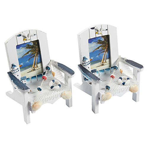 Cheap  Juvale Beach Chair Picture Frames – 2-Pack Miniature Beach Chair Vacation Theme..